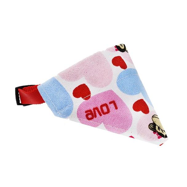 Love Hearts Dog Bandana Collar