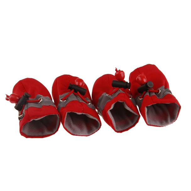 Red Waterproof Dog Boots