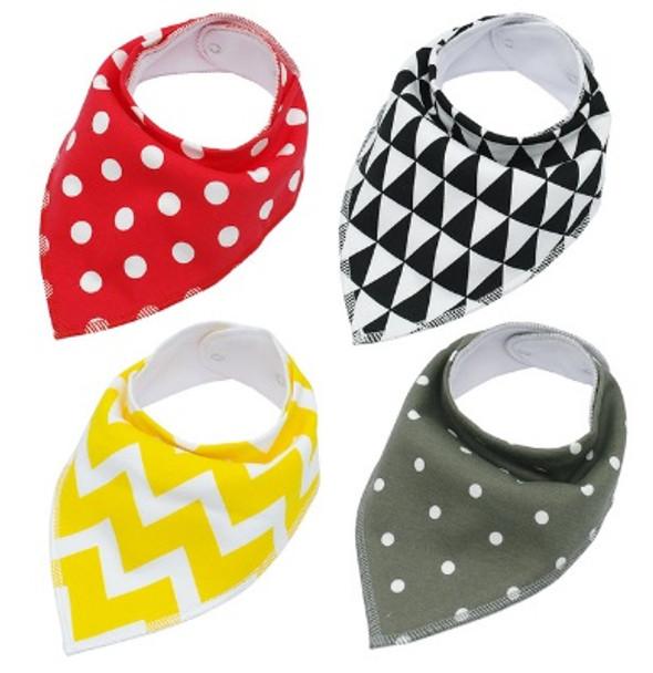 Pack of 4 Dog Bandana Scarves (Style 3)