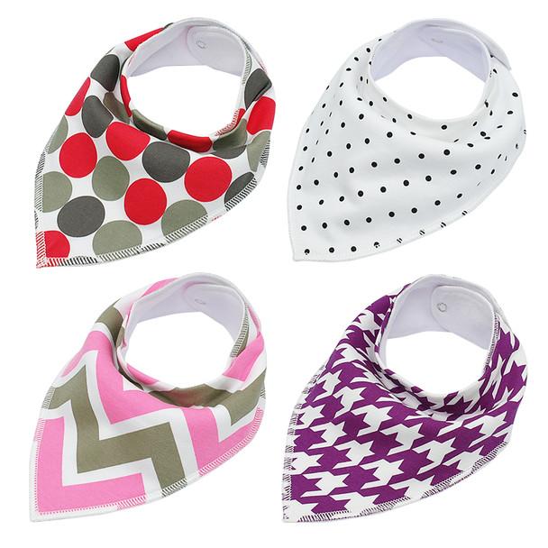 Pack of 4 Dog Bandana Scarves (Style 5)