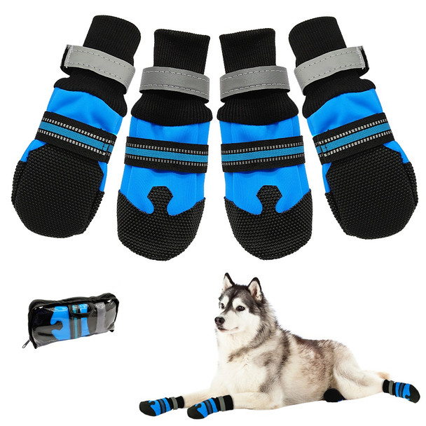 Large Blue Protective Dog Boots