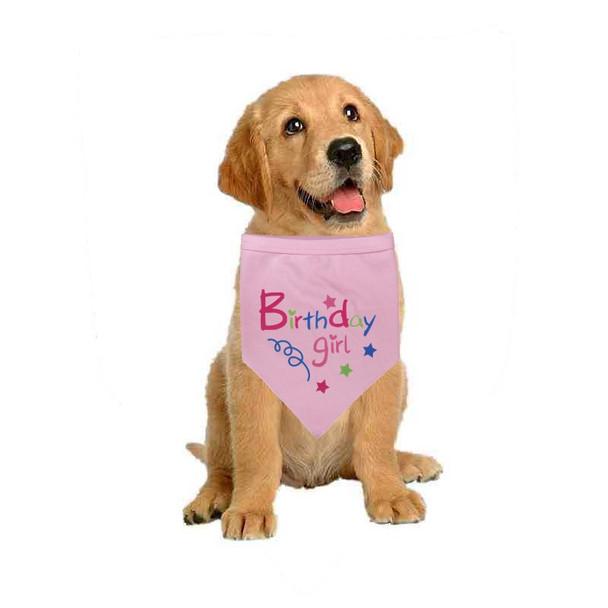 Pink Birthday Girl Dog Bandana