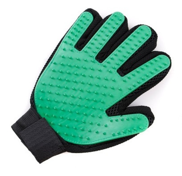 Green Dog Grooming Glove