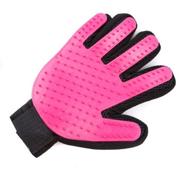 Pink Dog Grooming Glove