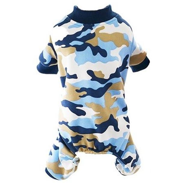 Blue Camo Dog Pyjamas