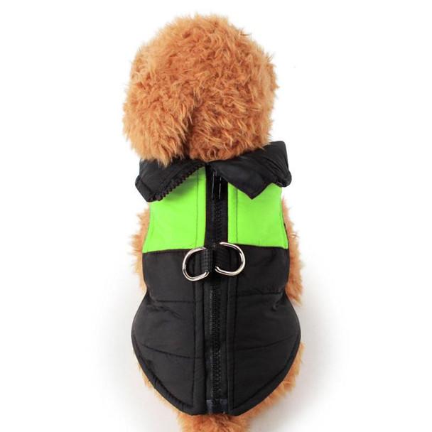 Black Green Padded Dog Vest Coat