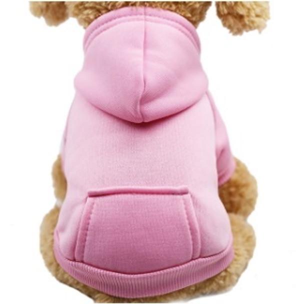 Light Pink Plain Dog Hoodie