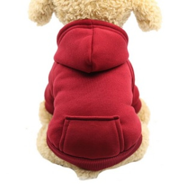 Wine Red Plain Dog Hoodie