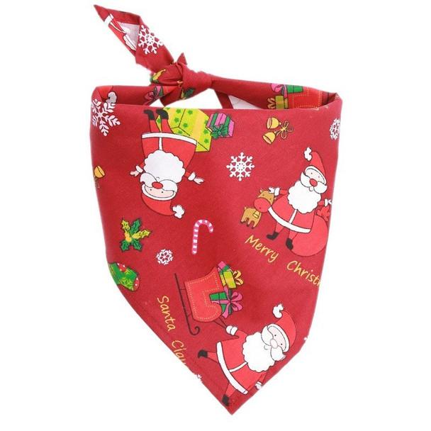 Red Christmas Santa Claus Dog Bandana