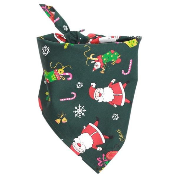 Green Christmas Santa Claus Dog Bandana