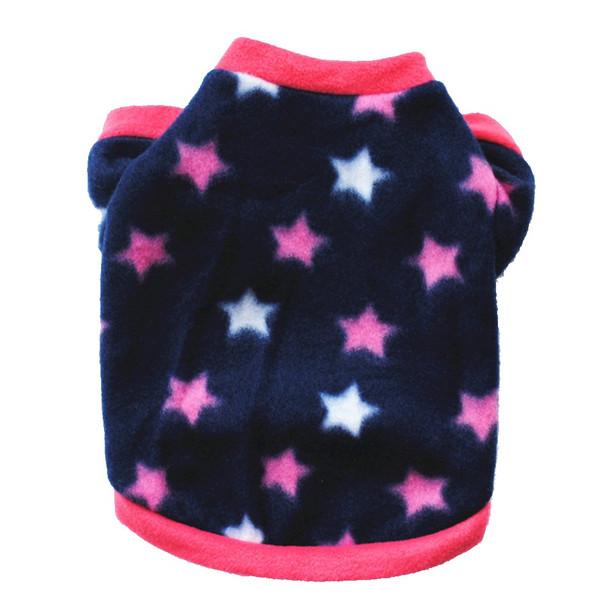 Blue Pink Star Dog Fleece Jumper
