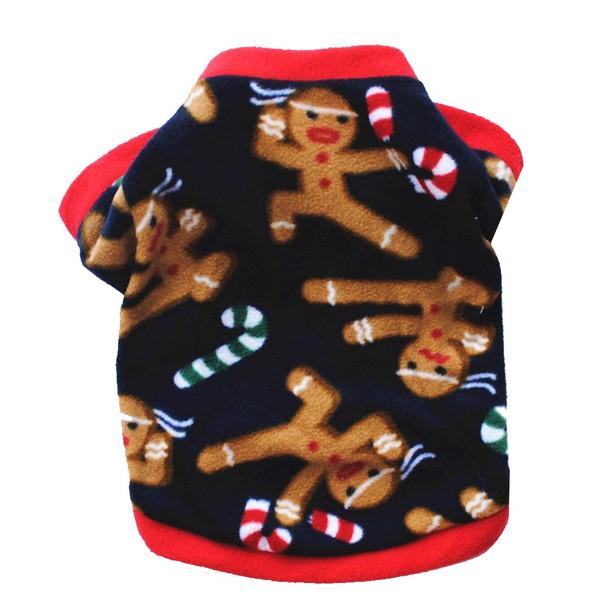 Black Red Gingerbread Man Dog Fleece Jumper