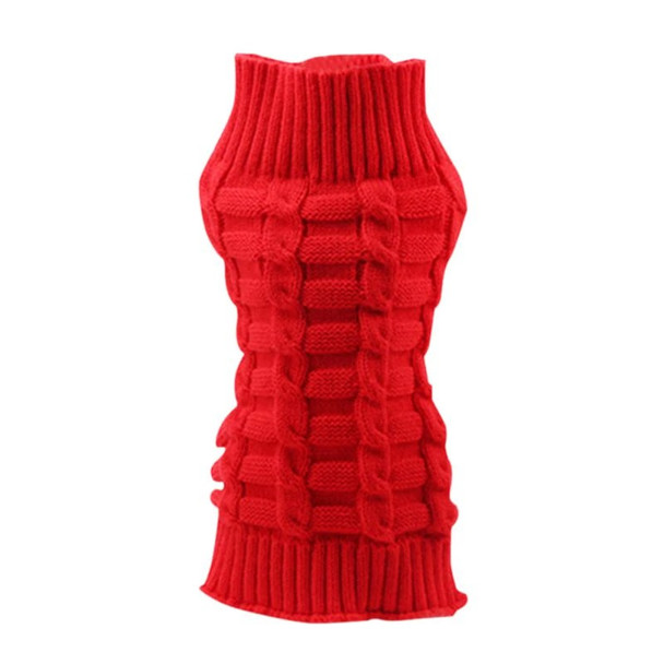 Red Classic Knitted Dog Jumper