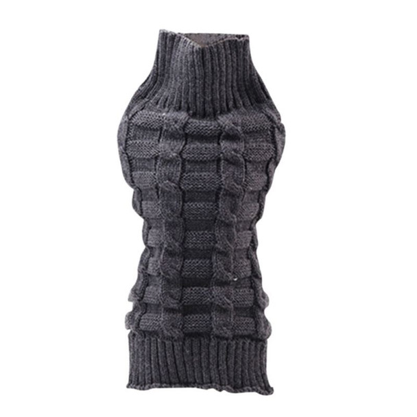 Grey Classic Knitted Dog Jumper