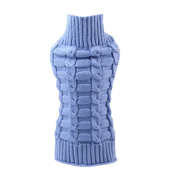Blue Classic Knitted Dog Jumper