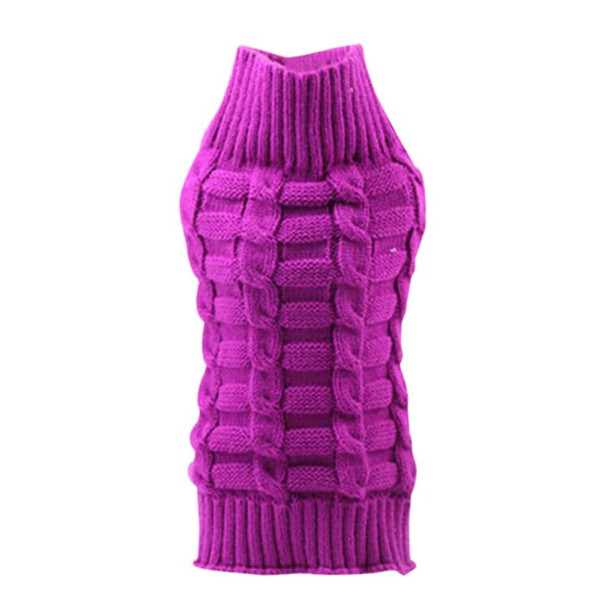 Purple Classic Knitted Dog Jumper