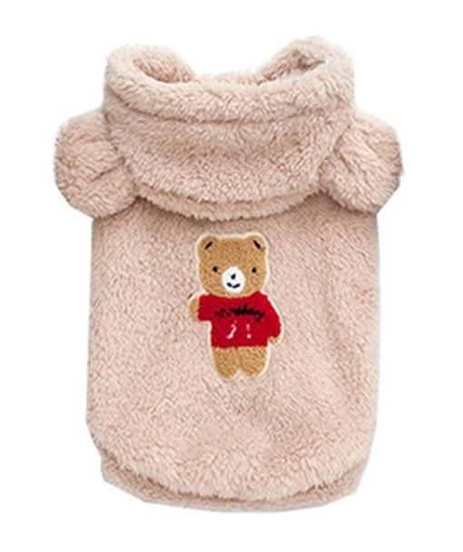 Beige Teddy Bear Fleece Dog Coat