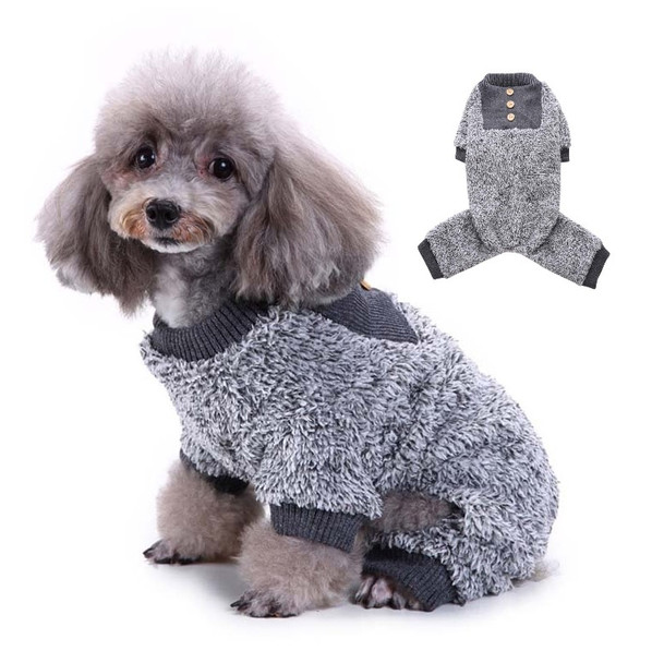 Grey Dog Fleece Onesie Pyjamas
