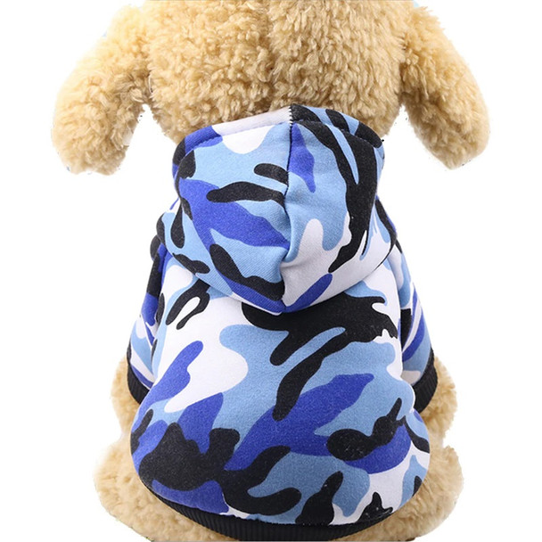 Blue Camo Dog Hoodie