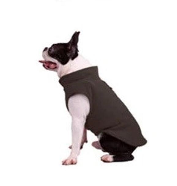 Brown Plain Fleece Dog Coat