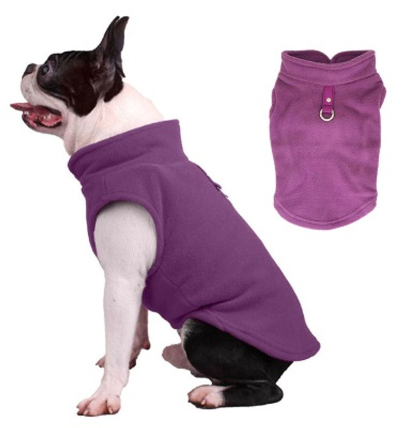 Purple Plain Fleece Dog Coat
