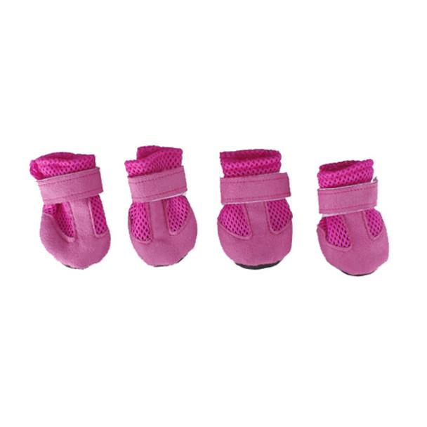 Pink Mesh Dog Boots