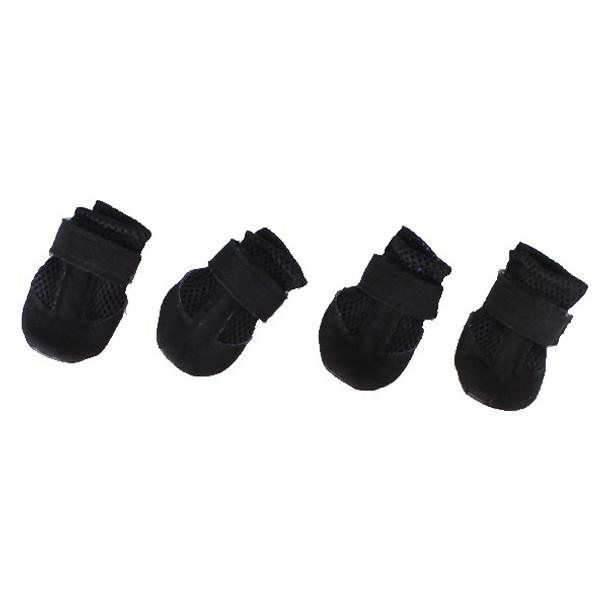 Black Mesh Dog Boots