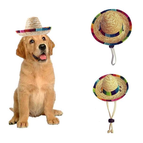 Dog Sombrero Straw Hat