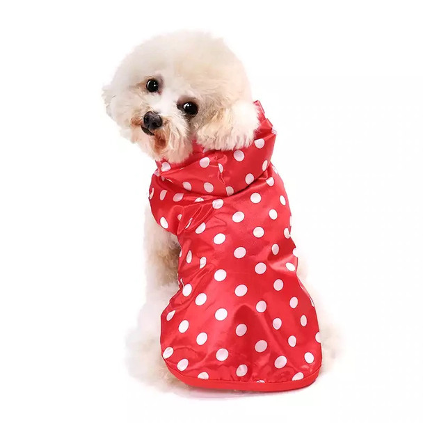 Red Polka Dot Dog Raincoat