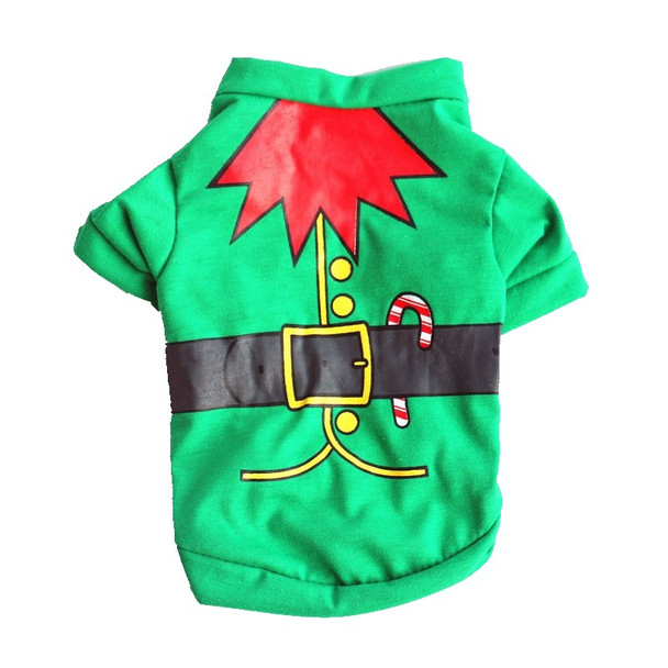 Green Elf Costume Christmas Dog T-Shirt