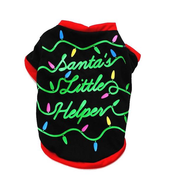 Santa's Little Helper Christmas Dog T-Shirt