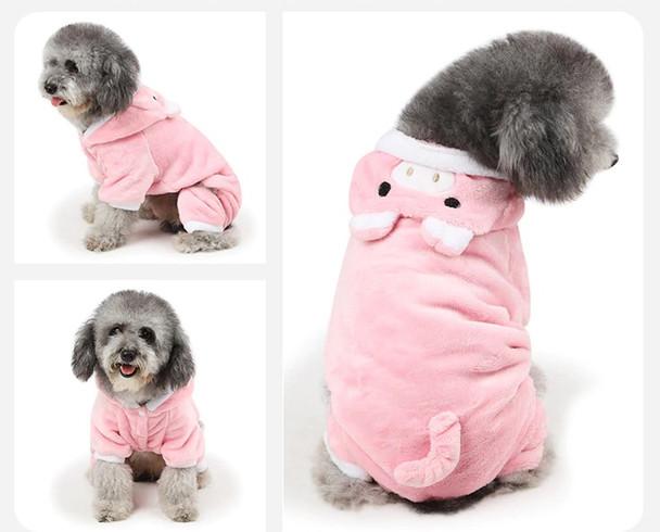 Pink Pig Dog Onesie Pyjamas