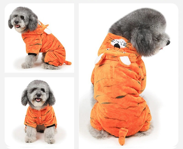 Orange Tiger Dog Onesie Pyjamas