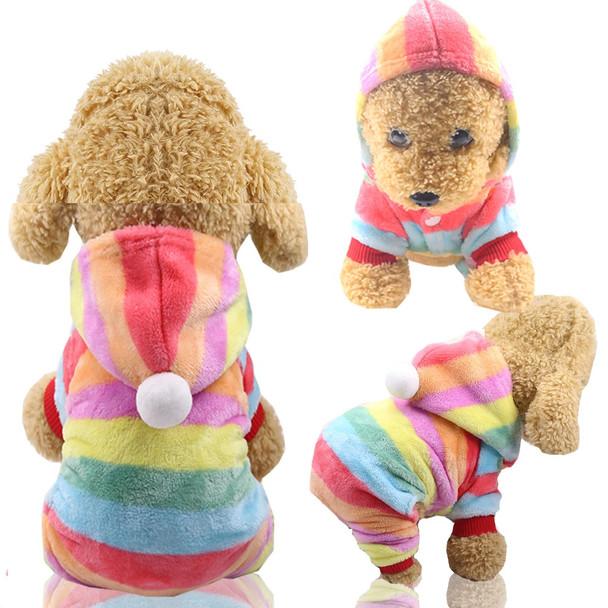 Rainbow Stripe Dog Onesie Pyjamas