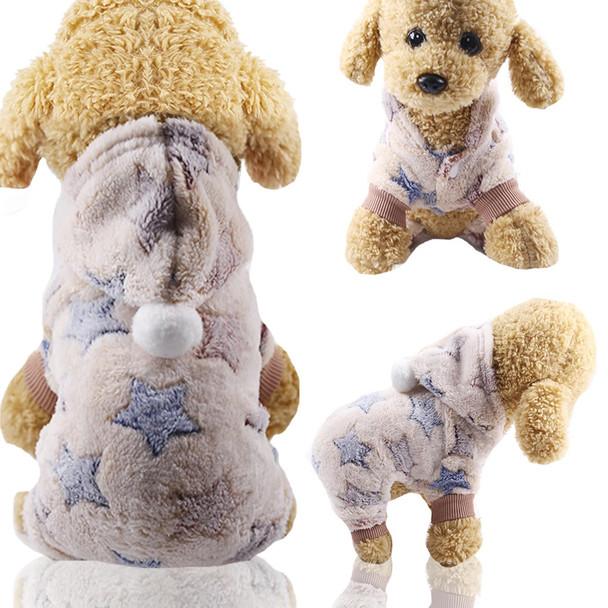 Beige Star Dog Onesie Pyjamas