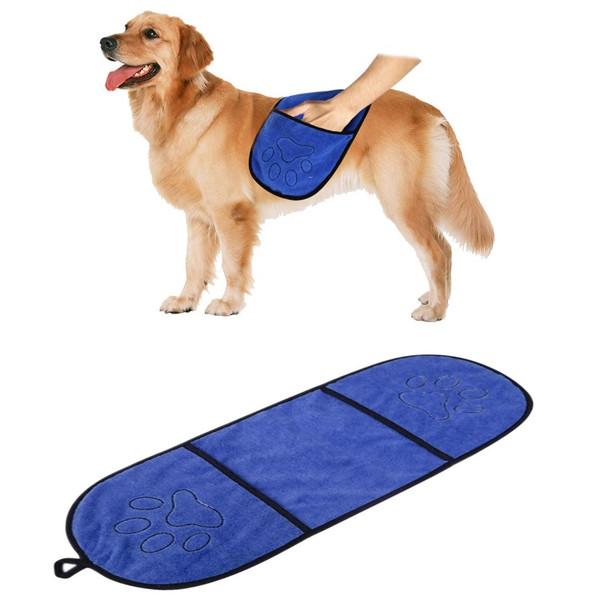Dark Blue Microfibre Dog Drying Towel