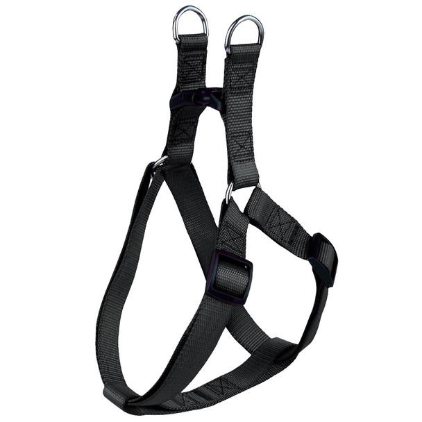 Black Classic Nylon Dog Harness