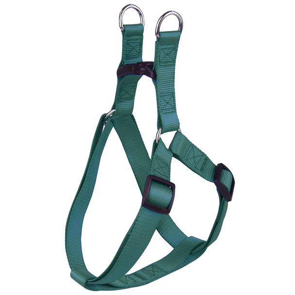 Green Classic Nylon Dog Harness