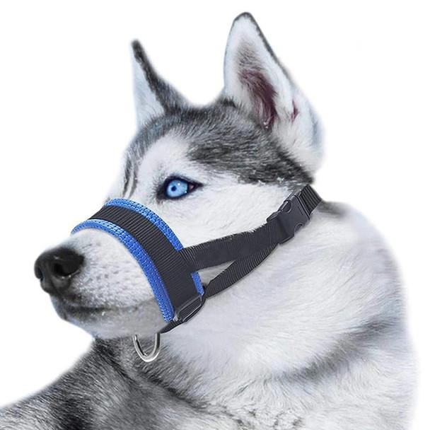 Blue Heavy Duty Padded Dog Head Collar