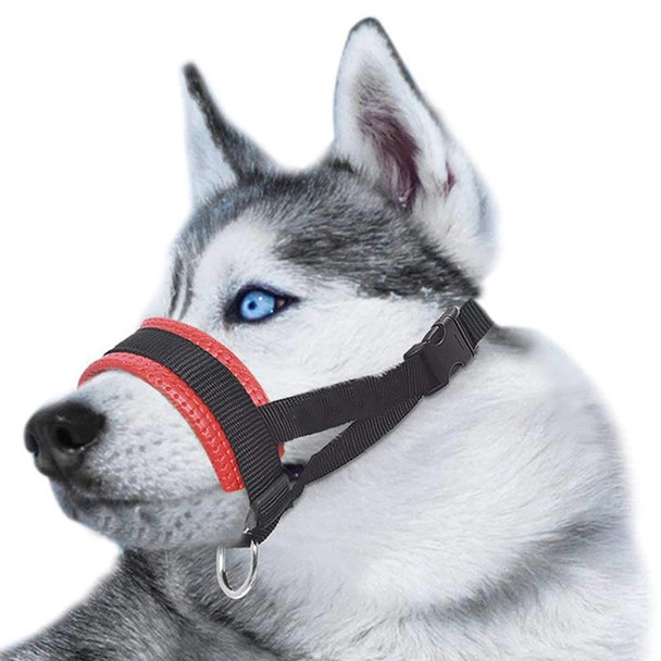 Red Heavy Duty Padded Dog Head Collar