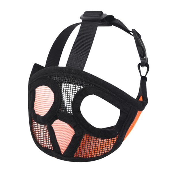 Orange Short Snout Dog Muzzle Face Mask
