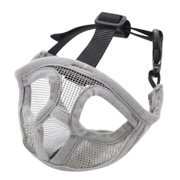 Grey Short Snout Dog Muzzle Face Mask