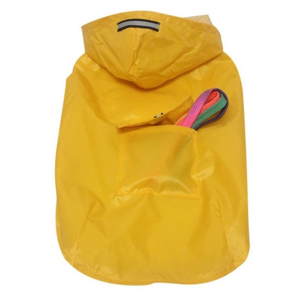 Yellow Lightweight Dog Rain Coat