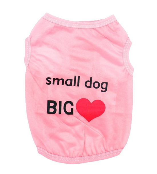 Pink Small Dog Big Heart Dog Vest
