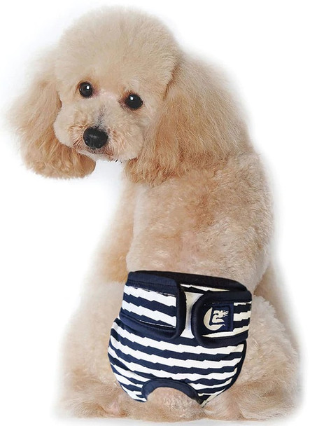 Blue Striped Dog Pants