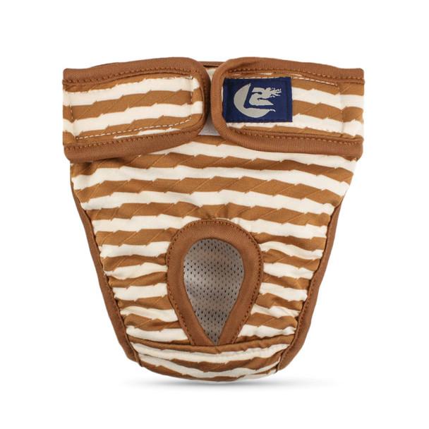 Brown Striped Dog Pants