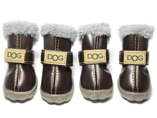 Brown Dog Snow Boots