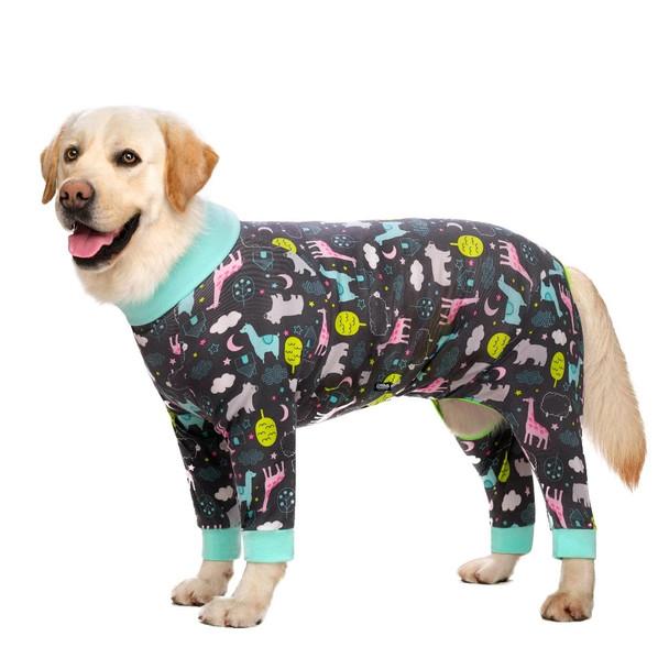 Grey Animals Large Dog Onesie Pyjamas