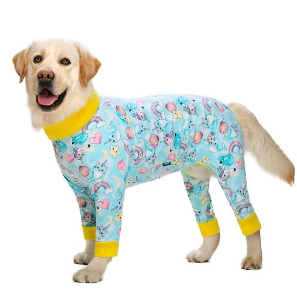 Blue Rainbows Large Dog Onesie Pyjamas