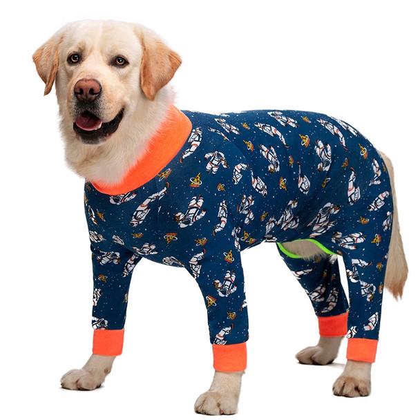 Blue Astronaut Large Dog Onesie Pyjamas